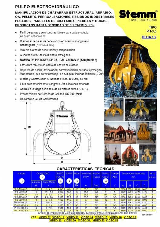 STEMM PH-3,5. Pulpo hidráulico. 1