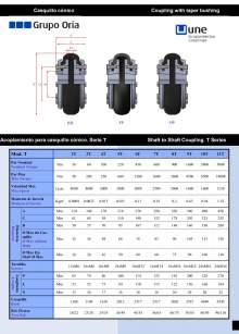 UNEFLEX Serie T Acoplamiento flexible para casquillo cónico.