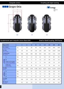 UNEFLEX Serie DVS.  Acoplamiento flexible para casquillo cónico.