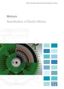WEG. Specification of electric motors.