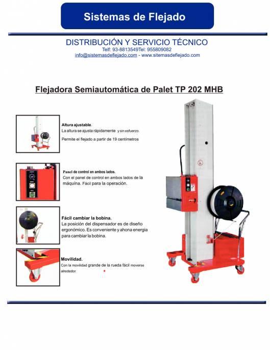 XIFRE TP 202 MHB. Flejadora semiautomatica 1