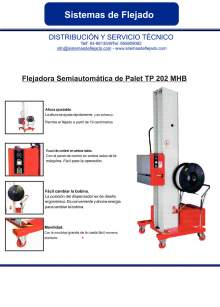 XIFRE TP 202 MHB. Flejadora semiautomatica